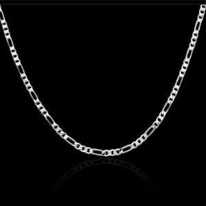 Jewelry - 🆕 4MM Flat Chain 925 Sterling Silver Necklace